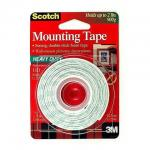 3M Scotch Indoor Mounting Tape 1/2-inch x 75-inches White