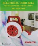 BORR England Multi Socket Plug Extension Reel 6 Yards QC8301B