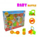 Baby Rattles Toys Set Easy Grip 5 In 1