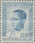 Ceylon 1963 Solomon Bandaranaike, 1899-1959 – 26 September – 10 Cents – Blue