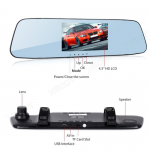 DVR Dual Lens Rearview Mirror Recorder Full HD – 1080P
