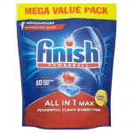 Finish All-in-1 Max Lemon Dishwasher Tablets – 80 Per Pack