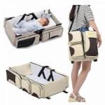 Foldable 2 In 1 Baby Cot Bed And Travel Bag