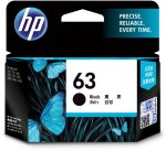 HP 63 Original Black Ink Cartridge for HP 1110/ 1112/ 3830/ 2130/ 2132/ 4650