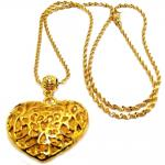 KLF Ladies Caralee 2 Gold Pendant Necklace
