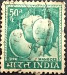 India 1965 -1967 Local Motifs Mangoes Stamp – 50 Cents – Mangifera Indica