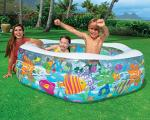 Intex 12 Hexagonal Paddling Pool with Ocean Reef Design – 56493NP
