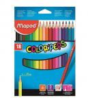 Maped Color Peps Colour Pencil – 18 Shades – Cardboard Box