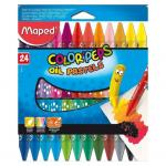 Maped Color Peps Oil Pastels Multi Colour – Pack of 24