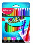 Maped Color Peps Plasticlean Plastic Crayons Multi Colour – Pack of 12