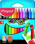 Maped Color Peps Wax Crayon Multi Colour – Pack of 12