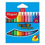 Maped Color Peps Wax Crayon Multi Colour – Pack of 24
