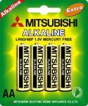 Mitsubishi AA 1.5v LR6 Alkaline Dry Battery – Single
