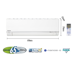 Panasonic 10000BTU Premium Single Split Inverter Air Conditioner CS-S10RKH (CU-S10RKH)