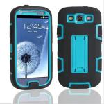 Samsung Galaxy S3 i9300 Defender Hybrid Rubber Rugged Combo Case Cover With Stand