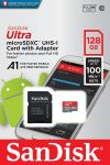 SanDisk Ultra 128Gb Micro SDXC UHS-I Memory Card 100MB/s Class 10 With Adapter