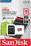 SanDisk Ultra Micro SDXC UHS-I Memory Card 100MB Class 10 With Adapter - 16Gb - SDSQUAR-016G-GN6MA