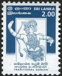 Sri Lanka 1999 Traditional Dancer – 3 February – 2.00 Rupees
