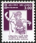Sri Lanka 1999 Traditional Dancer – 3 February – 3.00 Rupees