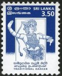 Sri Lanka 1999 Traditional Dancer – 3 February – 3.50 Rupees