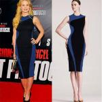 Elegant Sleeveless Slim Pencil Dress Black & Blue