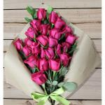 Dark Pink Roses Sheaf