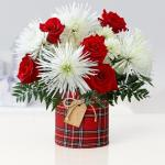 Red Roses Arrangement With Chrysanthemum