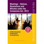 Meetings- Notices, Resolutions and Minutes under the Companies Act, 2013