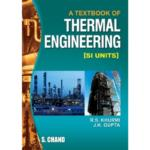 A Textbook Of Thermal Engineering SI Units