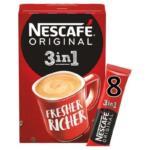 Nescafe Original 3 In 1 Instant Coffee 8 Pack – 136g